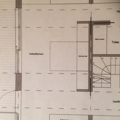 Architect plan for sewing room