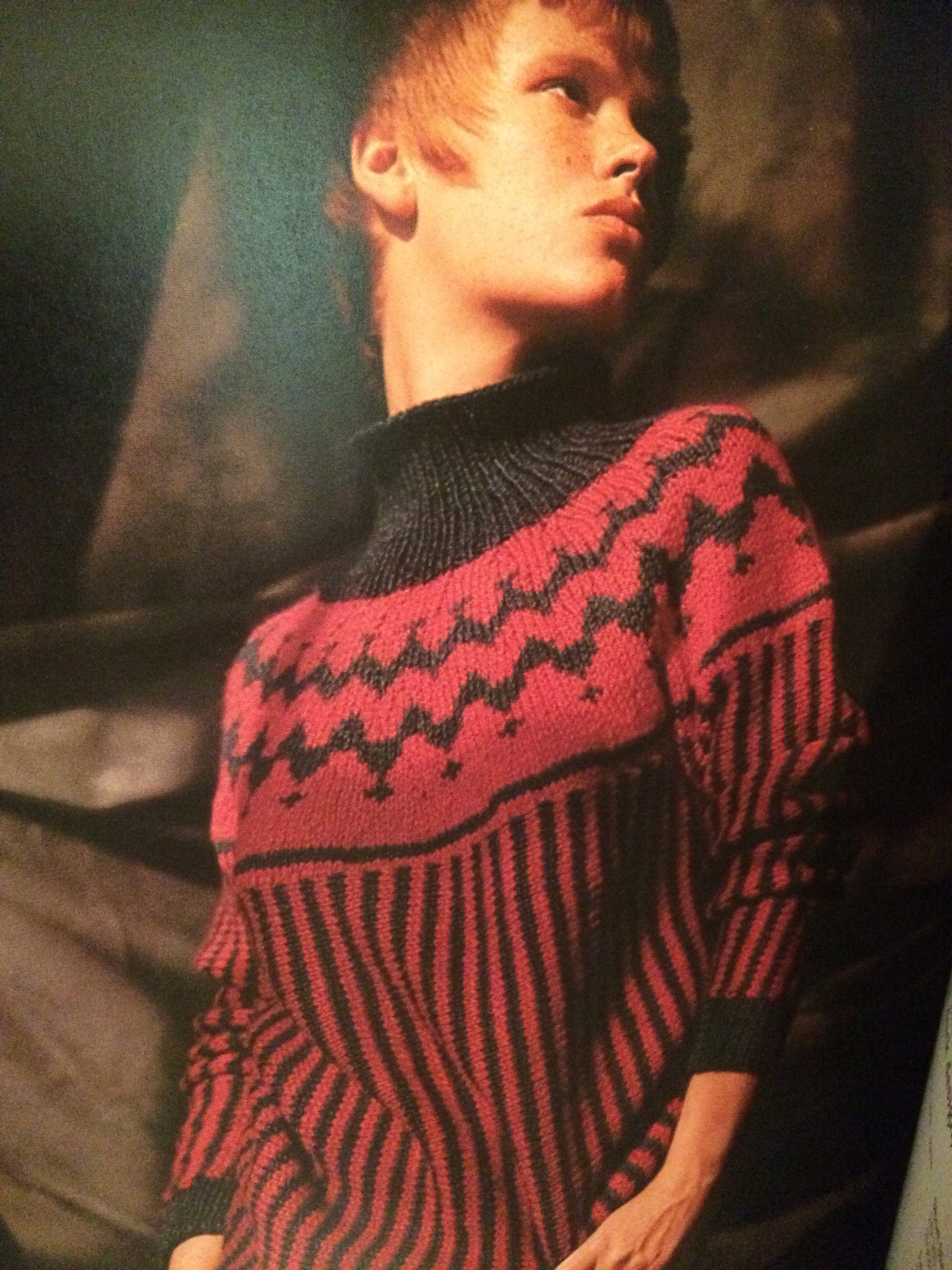 Rugged, Two colour ski sweater 1958 (p61)