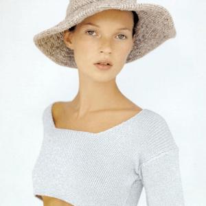 Tailored tweed dressmaker hat