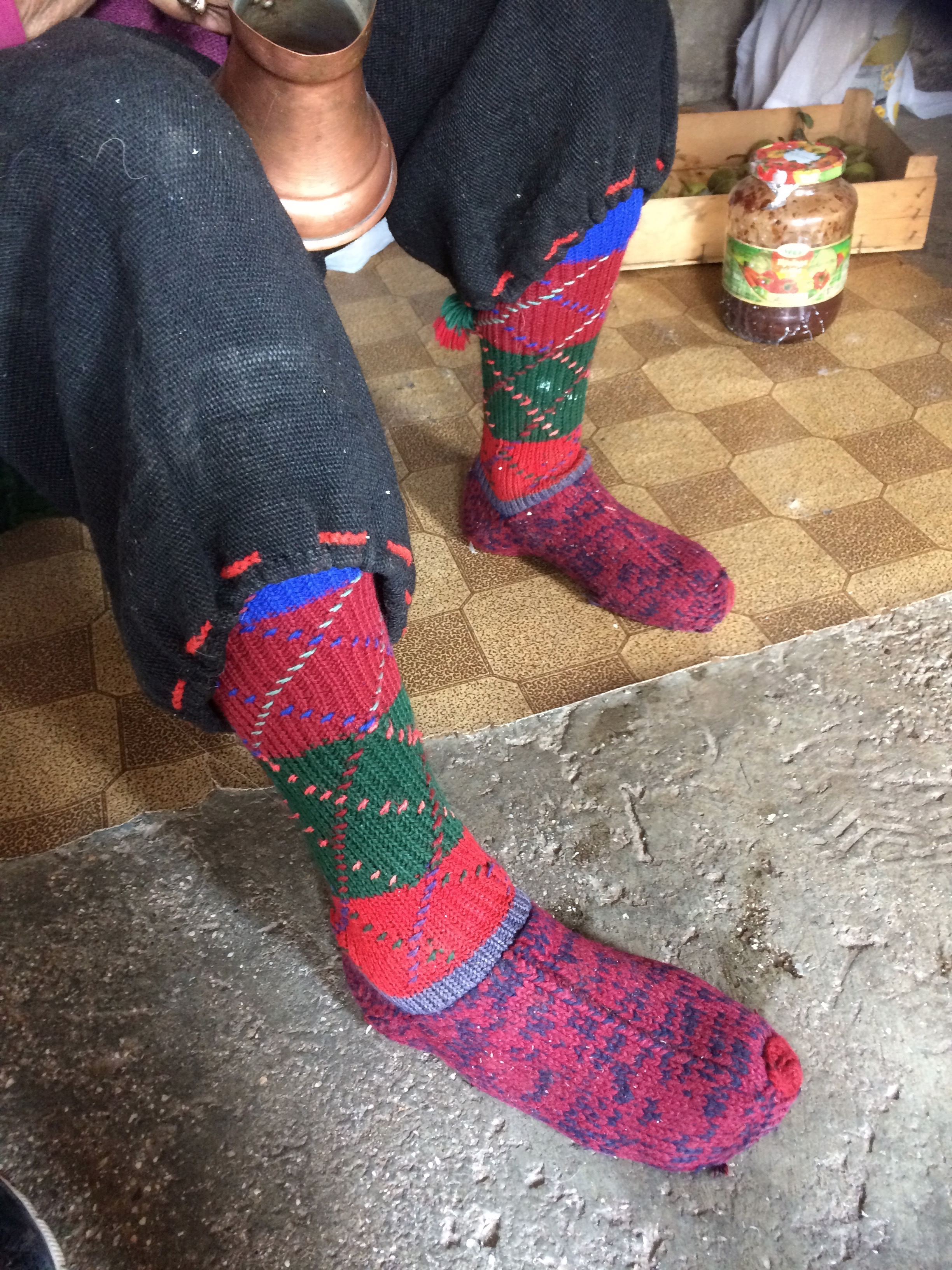 Trousers and socks