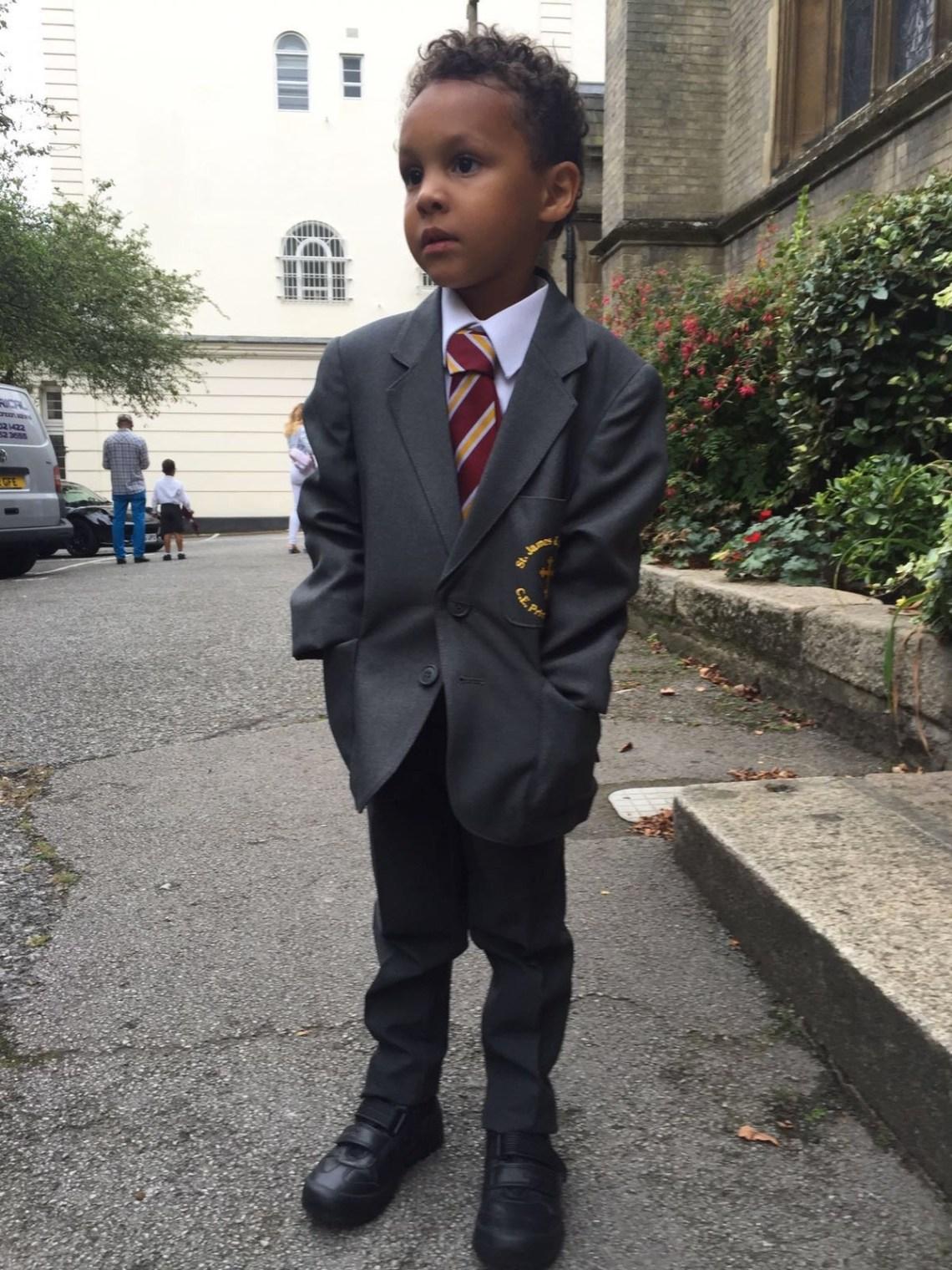 Modern school boy