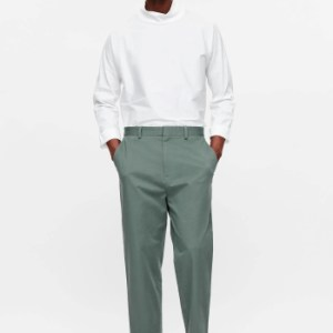 Soft green casual trousers (full length)