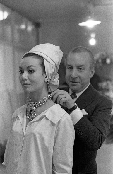 The Spanish fashion designer Antonio Castillo (1908-1984) at the fashion house Lanvin, Paris (France). In 1960. (Photo by adoc-photos/Corbis via Getty Images)