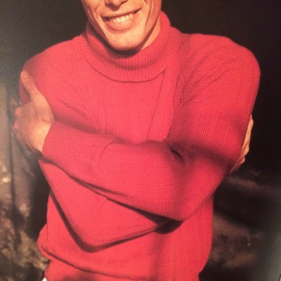 1956 Finely Patterned Polo-neck sweater