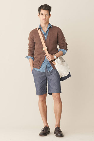 Soft blue Tailored shorts