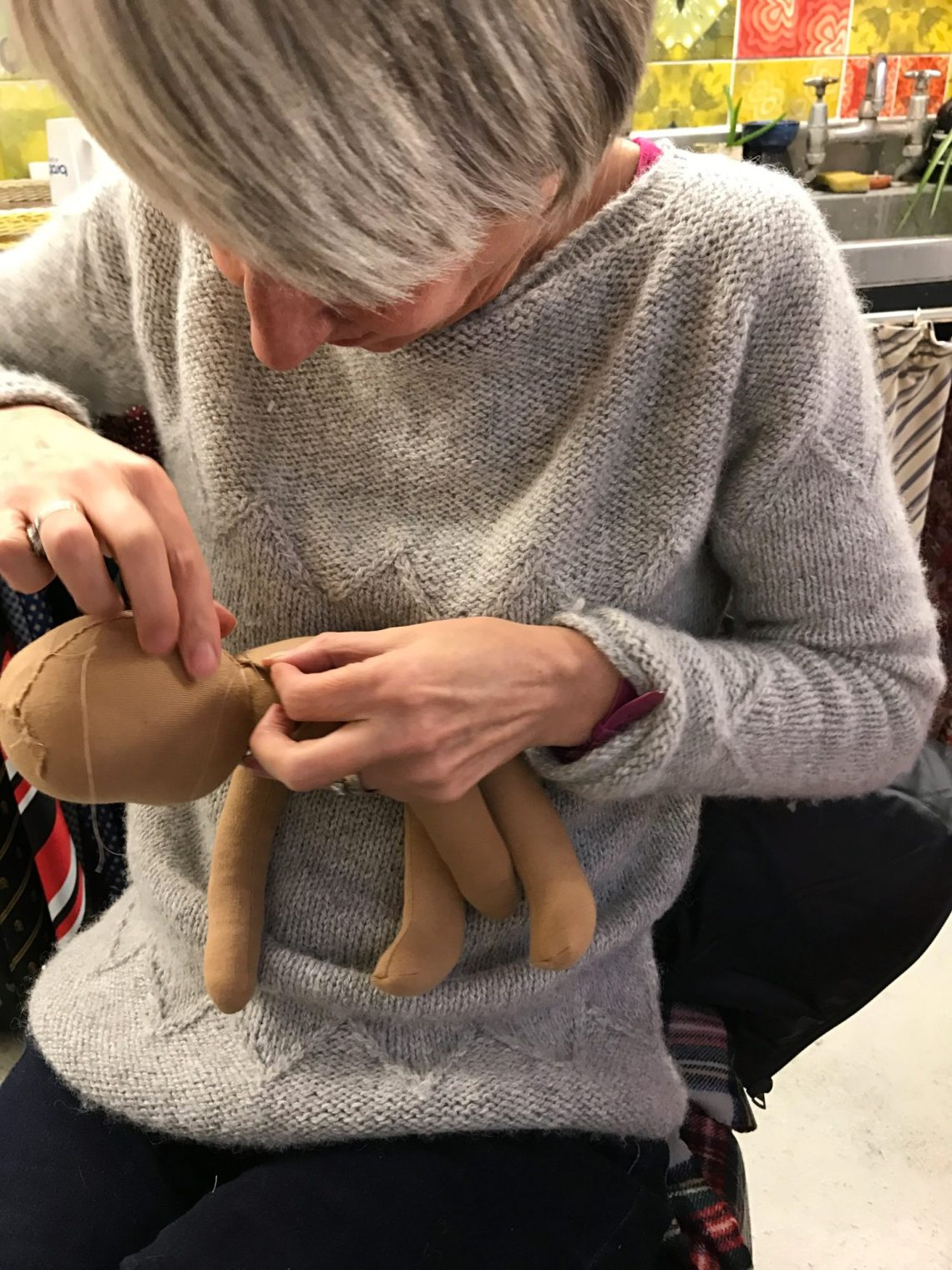 Making a hand made doll