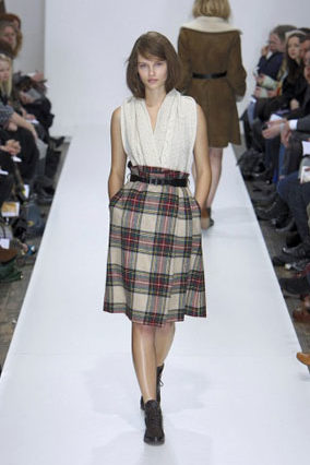 Margaret Howell tartan skirt AW 2010/11