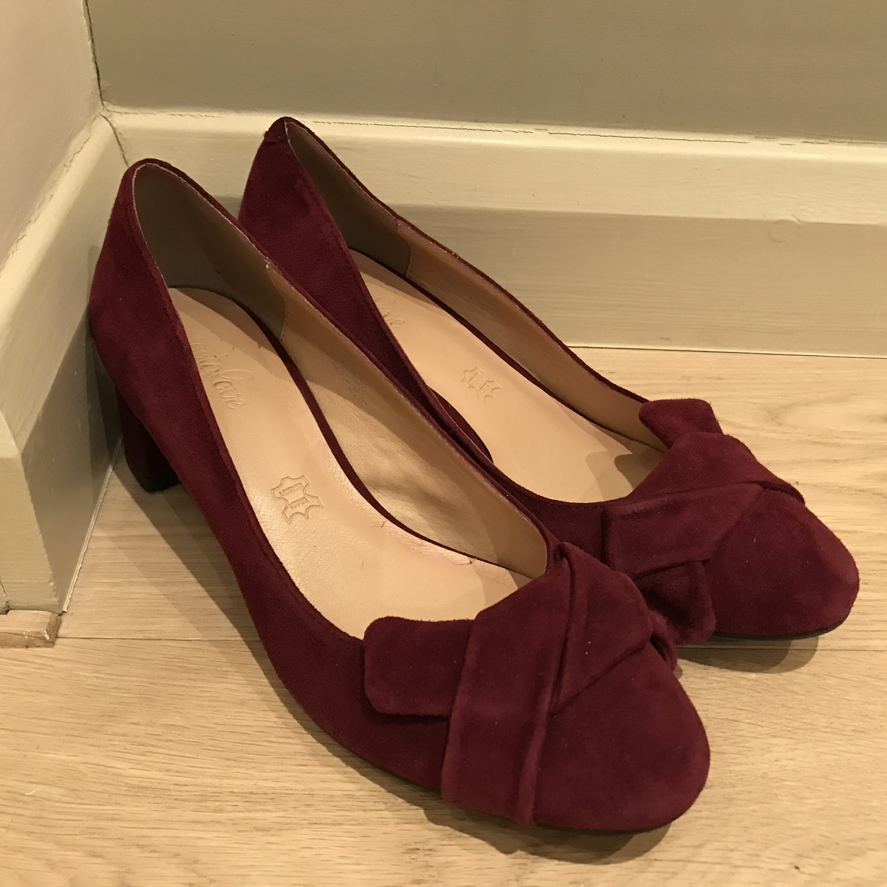 Dark red shoes (M&S)