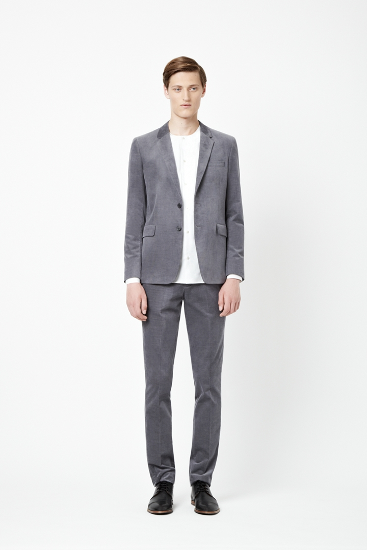 COS grey cord suit