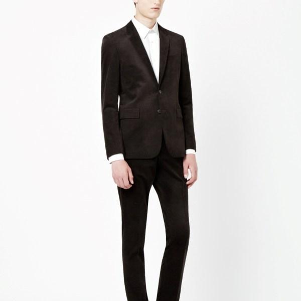 COS dark brown cord suit