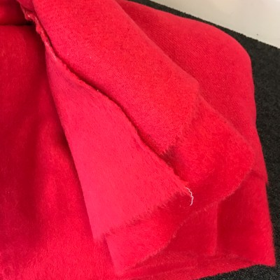 Paul Smith Red Wool with mohair from Simply Fabrics