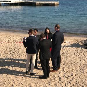 The suit as beachwear