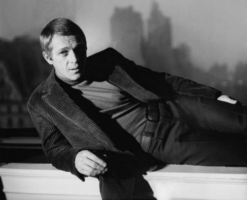 Steve McQueen Corduroy jacket and turtle neck