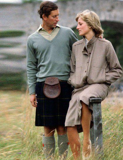 The brown tweed dress