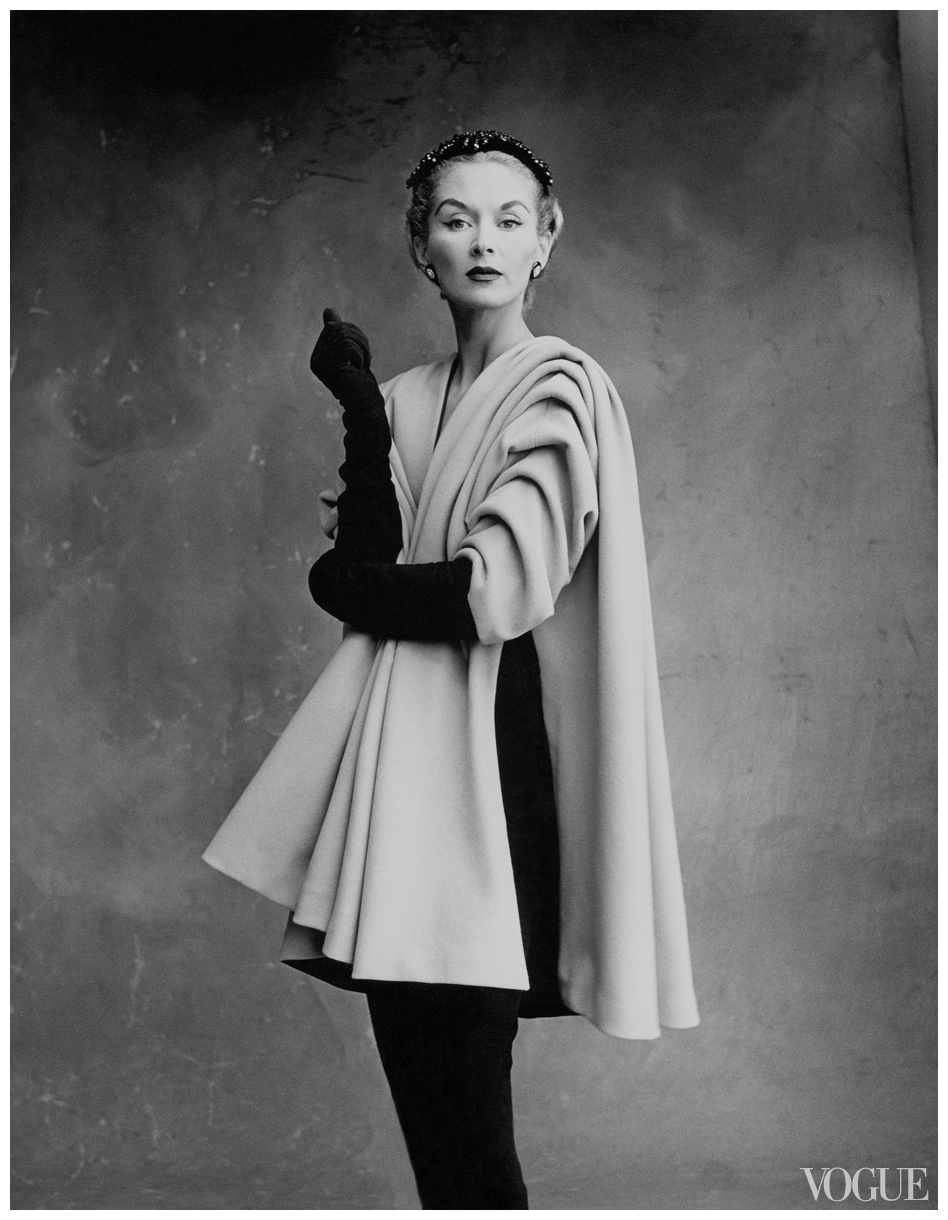 Lisa Fonssagrives in Cristobal Balenciaga Ensemble, photographed by Irving Penn for Vogue, 1950