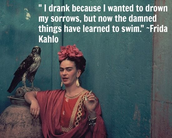 Khalo on drinking