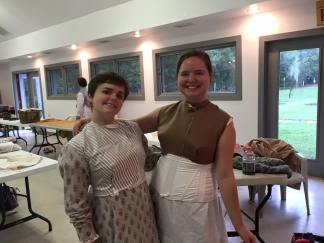 Melissa and I were very excited about our finished bodices!