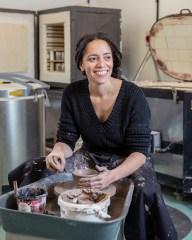 Portrait of Rebecca Morris, co-founder of Manchester Ceramics Collective