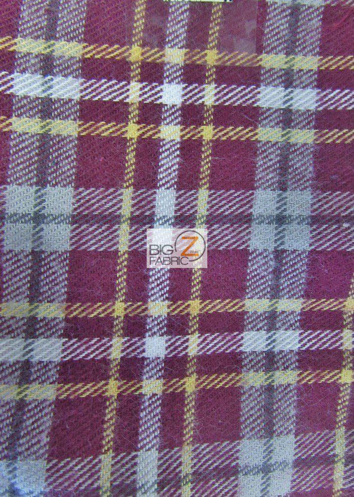 Tartan Plaid Flannel Fabric By The Yard Fabrics By The Yard