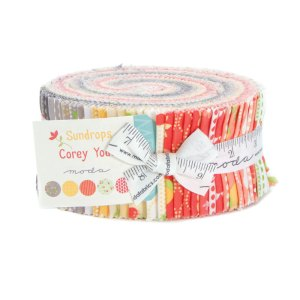 Sundrops - Moda Jelly Roll - Moda Fabric Strips - Corey Yoder Modern Florals for Moda Quilt Fabric Sewing Fabric - 2.5 inch fabric strips