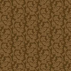 Bally Hall Fabric - Half Yard - Brown Small Jacquard Print Striped Print Di Ford Reproduction Quilt Fabric Andover A-8529-EN