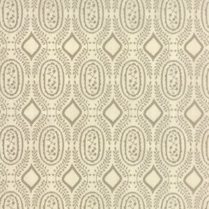 Black Tie Affair - Half Yard - Moda Fabric Floral Woven Vine Tan on Cream Off White Designer Quilting Fabric by Basic Grey 30426 11