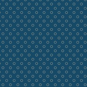 Blue Sky Fabric - Andover Fabric - Half Yard - Cream Circles Dots on Dark Blue Fabric Edyta Sitar Laundry Basket Quilts Fabric A-8515-B
