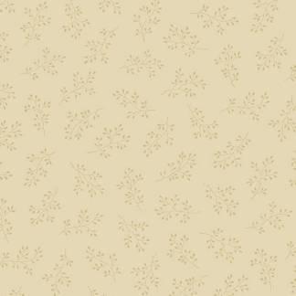 Blue Sky Fabric - Andover Fabric - Half Yard - Dark Tan Floral Clusters on Cream Fabric Edyta Sitar Laundry Basket Quilts Fabric A-8511-N