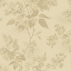Blue Sky Fabric - Andover Fabric - Half Yard - Dark Tan Large Scale Floral on Cream Fabric Edyta Sitar Laundry Basket Quilts Fabric A-8505-N