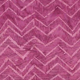 CHEVRON Fabric Fuchsia Pink Zig Zag by Timeless Tonga Bali Batiks Hand Dyed Fabric - Half Yard