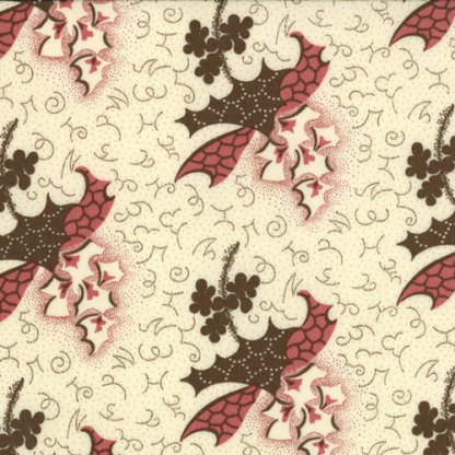 COLLECTIONS for a Cause WARMTH Reproduction Leaves Natural Cream brown green red Howard Marcus for Moda Fabric - Half Yard - 4614321