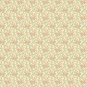 Crystal Farm Fabric - Andover Fabric - Half Yard - Edyta Sitar Laundry Basket Quilts Elderberry Floral Pink Teal on Cream Off White A-8619-L