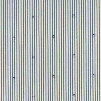 Grand Traverse Bay - Half Yard - Moda Fabric Tan Stone Ivory and Dark Blue Stripes and Berries Quilt Fabric Minick & Simpson 14822 11