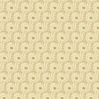 HABERDASHERY Vintage Swirly Pattern in Cream and Tan Gold Reproduction Fabric by Jo Morton for Andover - Half Yard - A7640N