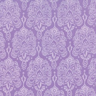 Horizon Floral Damask Orchid Lavendar Purples Large Scale Print by Kate Spain Quilting Sewing Fabric Moda - 1/2 Yard 2719115