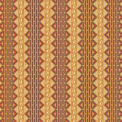 Isabella Fabric - Half Yard - Jo Morton - Tans and Browns Stripes, Striped Design Quilting Quilt Fabric Andover Reproduction - A-7941-NO