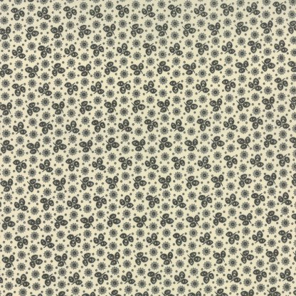 LA FETE De NOEL - Half Yard - Moda Fabric Ditsy Small Floral Leaf Honore Dark Green Pearl Ivory Fern French General Christmas 13673 15