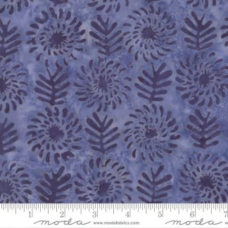 Latitude Batik Fabric - Moda Fabric - Half Yard - Kate Spain Blues Sunset Flowers and Leaves Hand Dyed Fabric Quilt Fabric 27250-288