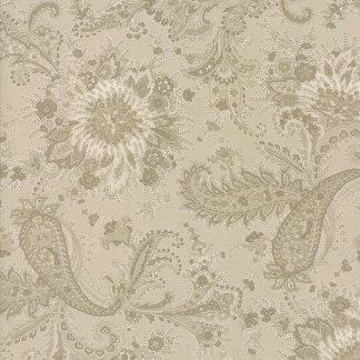 Miss Scarlet Fabric - Half Yard - Moda Fabric Gray Taupe with Tonal Large Scale Paisley Quilt Fabric Sewing Minick and Simpson 14810 23