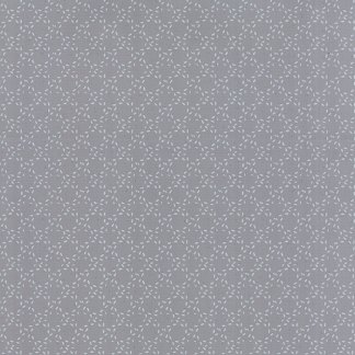 Modern Background Ink - Zen Chic Basic Stitched Circles Medium Steel Grey Gray with White Moda Quilting Sewing Fabric 1587 23 - Half Yard