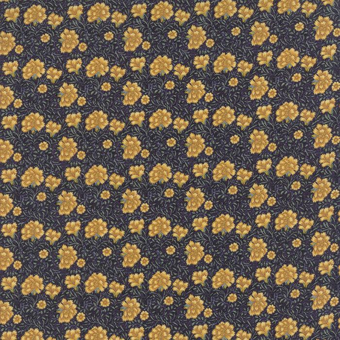 Morris Earthly Paradise – Half Yard- Moda Fabric Dark Blue Yellow ...