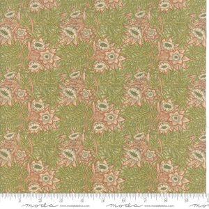 William Morris 2017 Fabric - Half Yard - Moda Fabric Reproduction Floral Tulip Willow 1873 Rose Pink Green Victoria & Albert Museum 7302 11