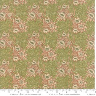 William Morris 2017 Fabric - Half Yard - Moda Fabric Reproduction Floral Tulip Willow 1873 Rose Pink Green Victoria & Albert Museum 7302 11