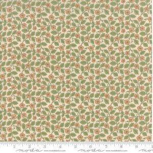 William Morris 2017 Fabric - Half Yard - Moda Reproduction Fabric Floral Christ Church 1882 Cream Green Victoria & Albert Museum 7305 11