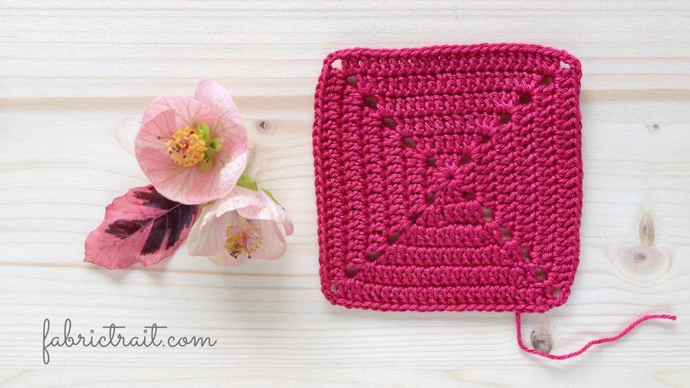 Pontos de Crochet - Quadrado da Avó Preenchido 2 | quadrado de croche