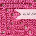 PONTOS DE CROCHET – QUADRADO DA AVÓ PREENCHIDO