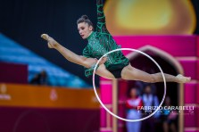 Baku, Azerbaijan - 09/19/2019: FIG Rhythmic Gymnastics World Championships 2019 Baku (AZE) - VERDES (ROU)