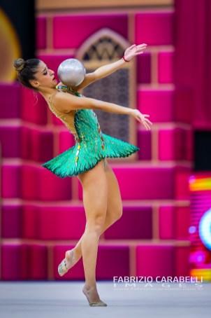 Baku, Azerbaijan - 09/19/2019: FIG Rhythmic Gymnastics World Championships 2019 Baku (AZE) - CUSNIER (PUR)