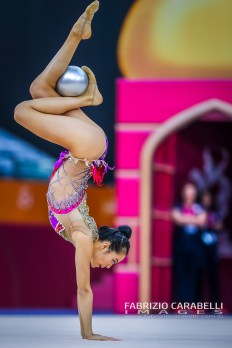 Baku, Azerbaijan - 09/19/2019: FIG Rhythmic Gymnastics World Championships 2019 Baku (AZE) - ZENG (USA)