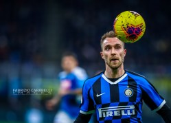 Christian Eriksen of FC Internazionale during the Coppa Italia 2019/20 match between FC Internazionale vs SSC Napoli at the San Siro Stadium, Milan, Italy on February 12, 2020 - Photo Fabrizio Carabelli